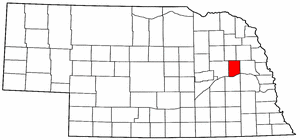 Nebraska Map showing Colfax County
