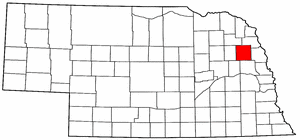 Nebraska Map showing Cuming County