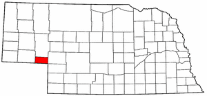 Nebraska Map showing Deuel County