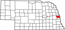 Nebraska Map showing Douglas County