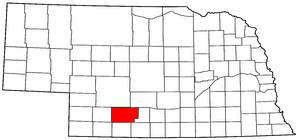 Nebraska Map showing Frontier County
