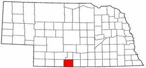 Nebraska Map showing Furnas County