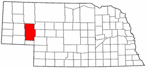 Nebraska Map showing Garden County