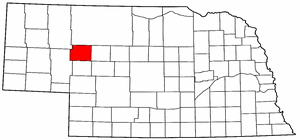 Nebraska Map showing Grant County