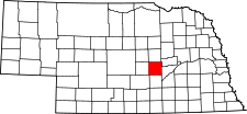 Nebraska Map showing Howard County