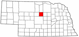 Nebraska Map showing Loup County