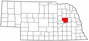 Nebraska Map showing Platte County