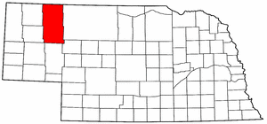 Nebraska Map showing Sheridan County