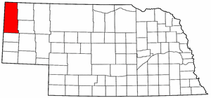 Nebraska Map showing Sioux County
