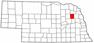 Nebraska Map showing Stanton County