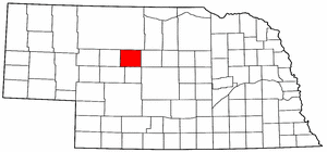 Nebraska Map showing Thomas County