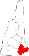 New Hampshire Map showing Rockingham County
