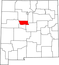 New Mexico Map showing Bernalillo County