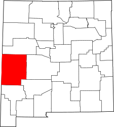 New Mexico Map showing Catron County