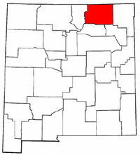 New Mexico Map showing Colfax County