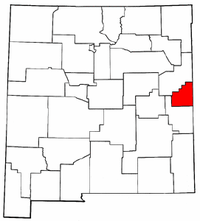 New Mexico Map showing Curry County