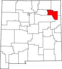 New Mexico Map showing Harding County