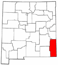 New Mexico Map showing Lea County