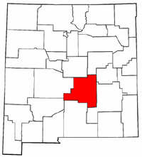 New Mexico Map showing Lincoln County