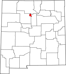 New Mexico Map showing Los Alamos County