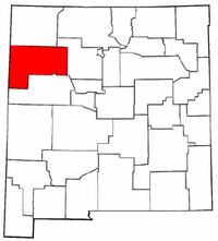 New Mexico Map showing McKinley County