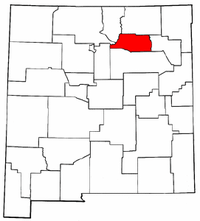 New Mexico Map showing Mora County