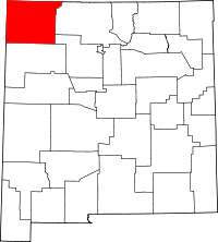 New Mexico Map showing San Juan County