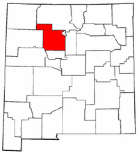New Mexico Map showing Sandoval County