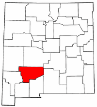 New Mexico Map showing Sierra County