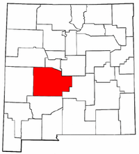 New Mexico Map showing Socorro County