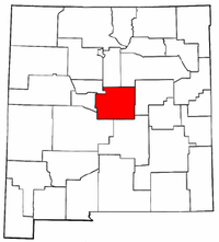 New Mexico Map showing Torrance County