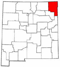 New Mexico Map showing Union County