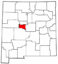 New Mexico Map showing Valencia County