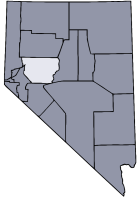 Nevada Map showing Churchill County
