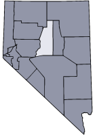 Nevada Map showing Lander County