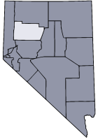 Nevada Map showing Pershing County