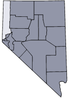 Nevada Map showing Washoe County