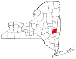 New York Map showing Albany County