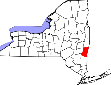 New York Map showing Columbia County