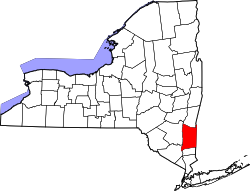 New York Map showing Dutchess County