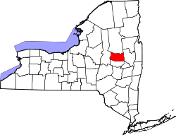 New York Map showing Fulton County