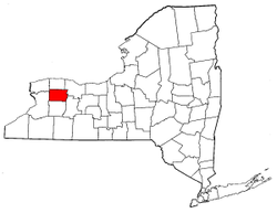 New York Map showing Genesee County