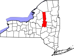 New York Map showing Herkimer County