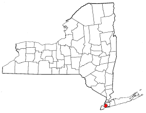 New York Map showing Kings County