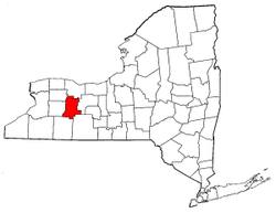 New York Map showing Livingston County