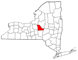 New York Map showing Madison County