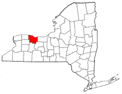 New York Map showing Monroe County