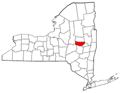 New York Map showing Montgomery County