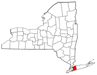 New York Map showing Nassau County