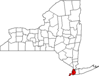 New York Map showing New York County